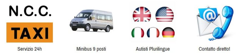 Servizio taxi, Noleggio con conducente, minibus miniva 9 posti, autisti plurilingue, contatto diretto